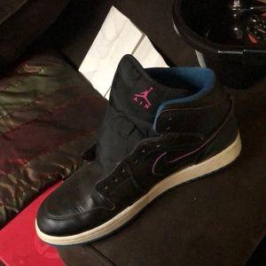 Jordan ones Black no laces men size ten